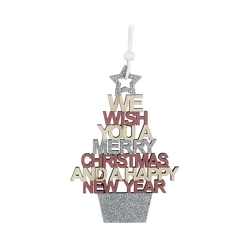 Glitter Merry Christmas Sign
