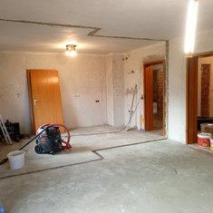 Abbruch einer Wand, gestaltung des Raumes