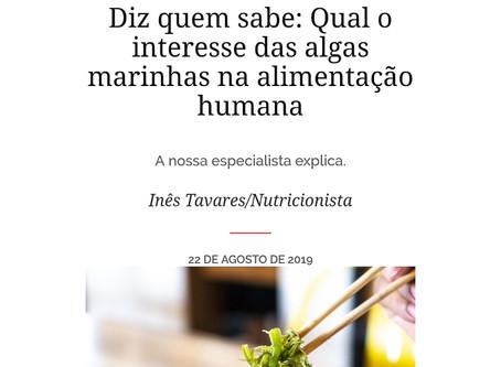 Qual o interesse das algas marinhas na alimentação humana