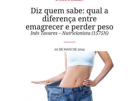 A diferença entre emagrecer e perder peso