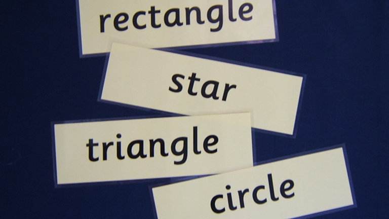 Shape Word Cards