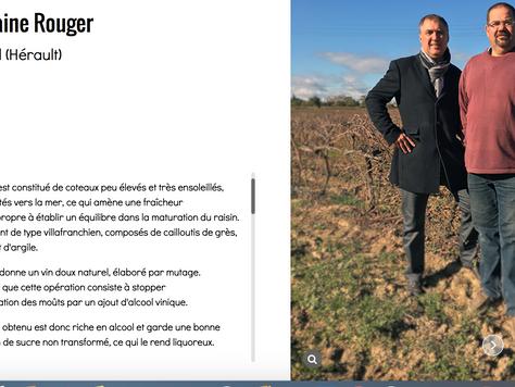"""Le Domaine Rouger a la une du 39ème numéro du magazine """"Wine LR"""""""