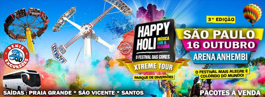 HAPPY HOLI 2016 EDIÇÃO SAO PAULO- DENIS EXCURSOES