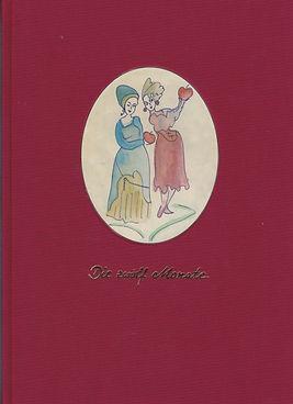 """Märchenbuch """"Die zwölf Monate"""" von Christine Maaß, handgebunden von der Buchbinderei Carolinental/Uckermark, 2006"""