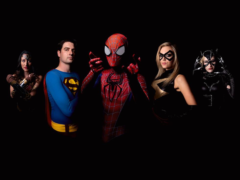 Superhero Cosplay fans, Birmingham NEC