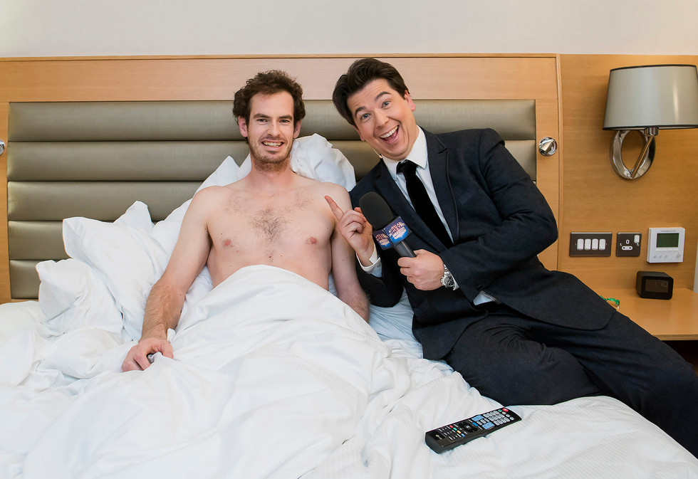 Andy Murray and Michael McIntyre. Sport Relief.