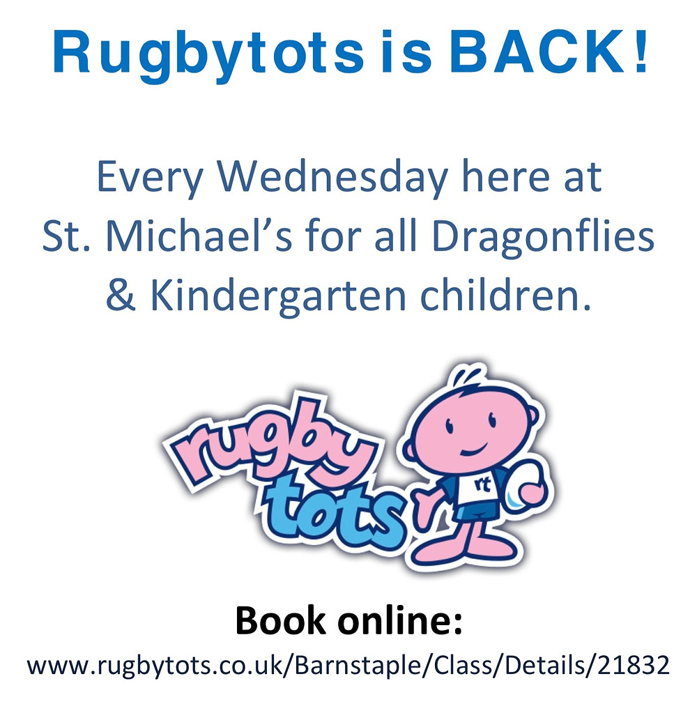 John from Rugbytots is back this Wednesday on our brand new all weather pitch!