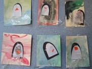 Kindergarten & Dragonflies Wintery Art