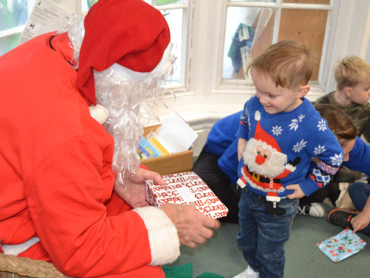 Father Christmas Visits St. Michael's