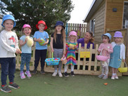 Kindergarten go on an Egg Hunt