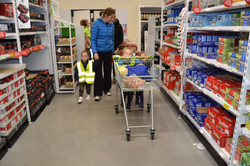 Pushing the trolley