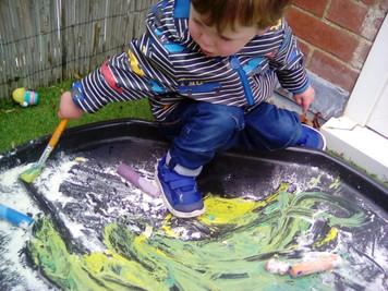 Paint & Flour = FUN!