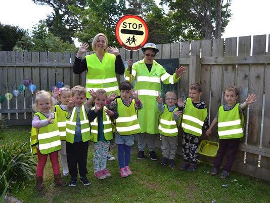 Meeting our local Road Crossing Safety Patrol Officer.