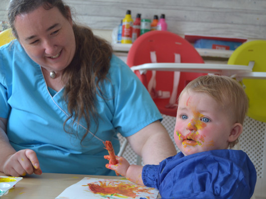 Ladybirds Get Messy With Paint!