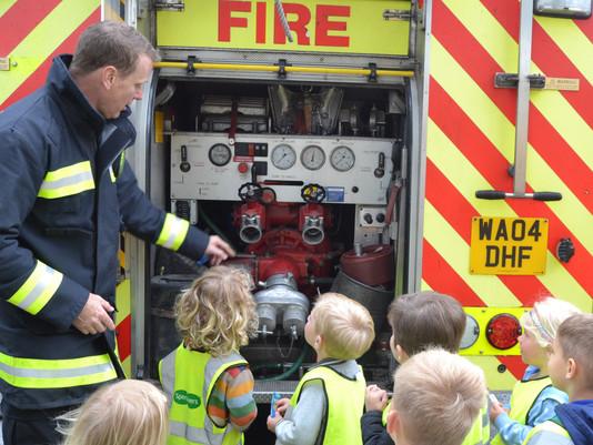 Fire Brigade Visit St. Michael's