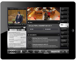 TV News Split Screen Video Player