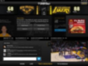 Second Screen Lakers
