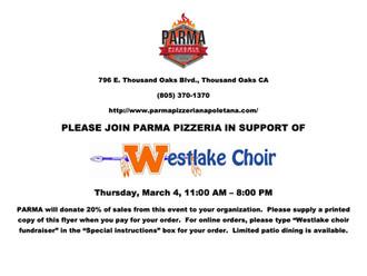 Parma Pizzeria Fundraiser!