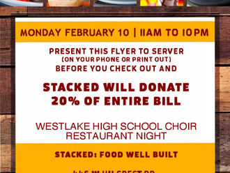 Choir Restaurant Night Fundraiser