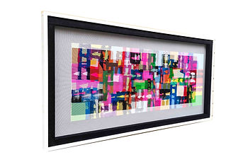 JEF BRETSCHNEIDER: ABSTRACTION Acrylic on mesh 30 x 60