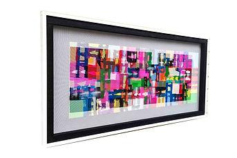 JEF BRETSCHNEIDER: ABSTRACTION Acrylic on mesh 30 x 60