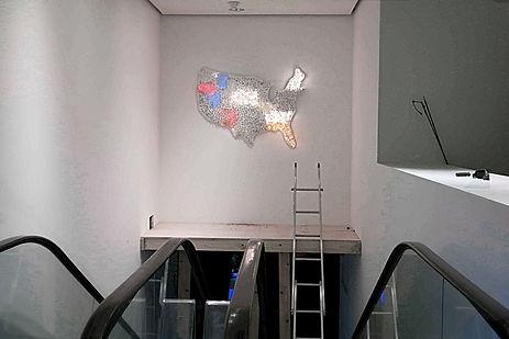 "JEF BRETSCHNEIDER: MoMA CLUB 57 SHOW ""Shifting Borders""."