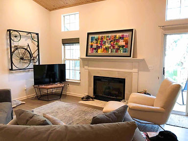 "JEF BRETSCHNEIDER: 30"" x 60"" ABSTRACTION, Beach house, Folly Island, South Carolina"