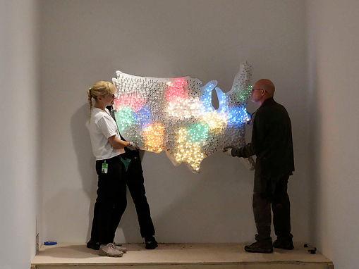 "JEF BRETSCHNEIDER: MoMA CLUB 57: Hanging Jef Bretschneider's 1978 ""Shifting Borders"""