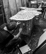"""Museum of Modern Art: BOXART Designer Jim Wine measures Jef Bretschneider's """"Shifting Borders"""""""