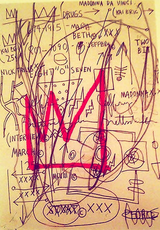 "JEF BRETSCHNEIDER: ""MADONNA DAVINCI"" Drawing by JEAN MICHEL BASQUIAT with 3 Jef Bretschneider mentions"