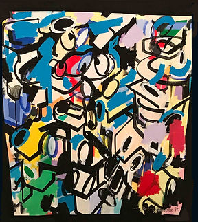 Jef Bretschneider: 1992 UNTITLED ABSTRACTION 4ft X 5ft Acrylic on canvas