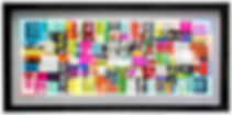 "JEF BRETSCHNEIDER: UNTITLED ABSTRACTION   30"" x 60"" Acrylic on mesh White frame"