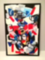 Jef Bretschneider: 1992 UNTITLED ABSTRACTION 2ft X 4ft Acrylic on canvas