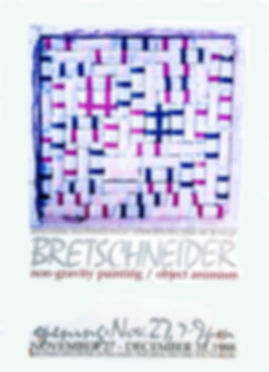 "JEF BRETSCHNEIDER: BOGOTA BOOGIE-WOOGIE ,1988, 30"" X 31.5"", Mixed media: Plastic bags, Tape, Flour"