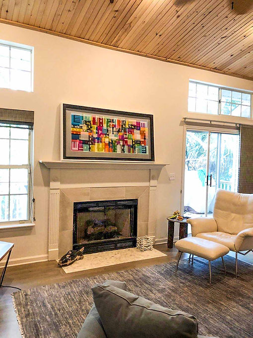 "JEF BRETSCHNEIDER: 30"" x 60"" ABSTRACTION, Beach house, Folly Island, South Carolina"