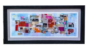 JEF BRETSCHNEIDER: ABSTRACTION Acrylic on mesh 28 x 60