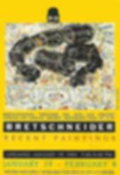 JEF BRETSCHNEIDER: 1991 EXHIBITION POSTER