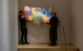 "MoMA hanging Jef Bretschneider's ""Shifting Borders"""