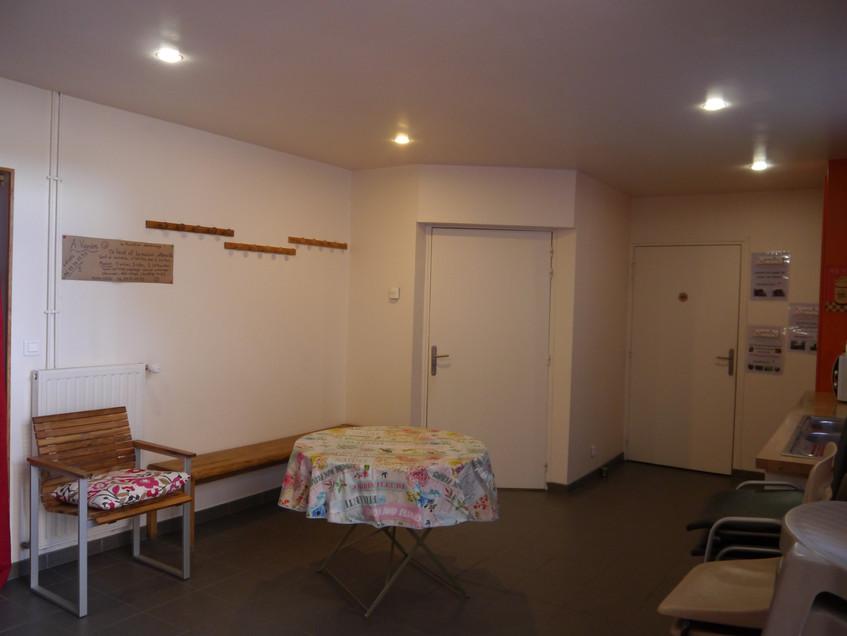 la salle d'accueil/cuisine