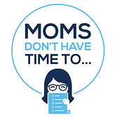 moms don't have time to logo