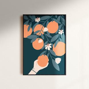 Orange picking