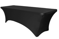 6ft Table with Black Spandex