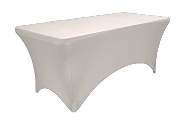 6ft Table with White Spandex