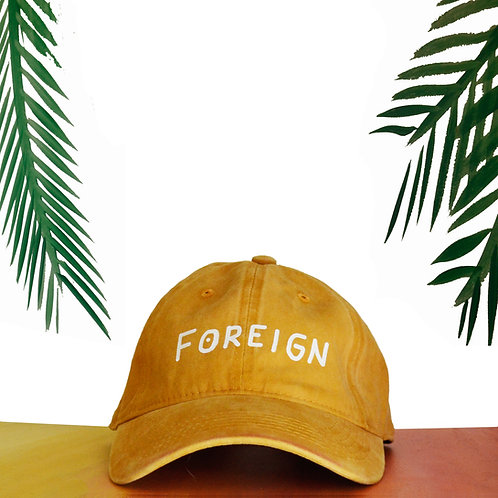 Yellow Foreign Dad hat