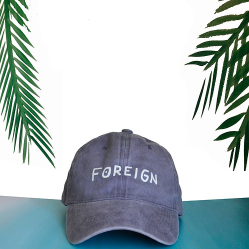 Gray/Lilac Foreign Dad hat