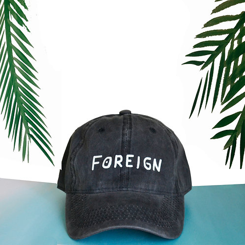Off Black Foreign dad hat