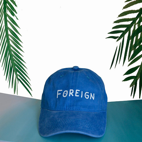 Blue Foreign dad hat