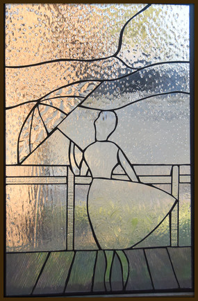 i am singing in the rain in stained glass