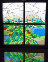 התישבות ארץ ישראל- ויטראז' בחלון