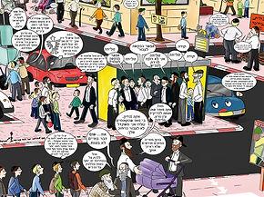 סט קירות קומיקס
